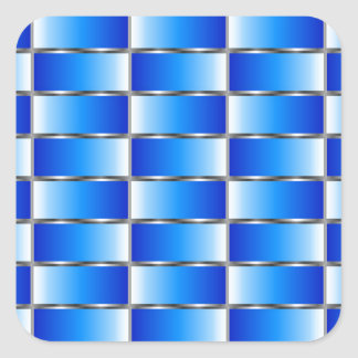 Corrugated metal texture square sticker