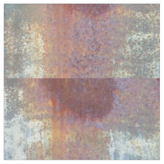 Corrugated sheet metal rusted plaid fabric