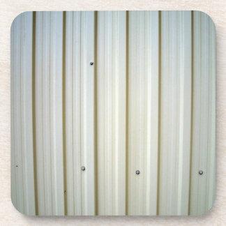 corrugated steel texture coaster