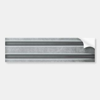 Corrugated Steel Textured Bumper Sticker
