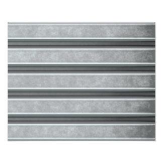 Corrugated Steel Textured Photo Print