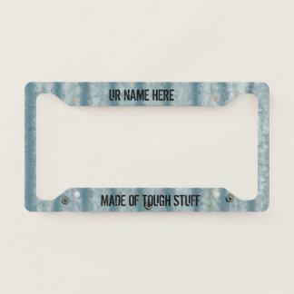 Corrugated Steel - Tough Stuff- Number Plate Frame