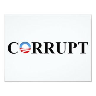 CORRUPT 11 CM X 14 CM INVITATION CARD