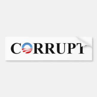 CORRUPT BUMPER STICKER