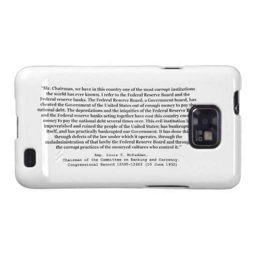 Corrupt Federal Reserve Quote by Louis T McFadden Samsung Galaxy Covers