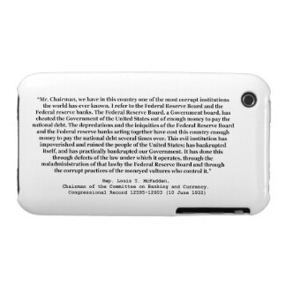 Corrupt Federal Reserve Quote by Louis T McFadden iPhone 3 Case-Mate Case