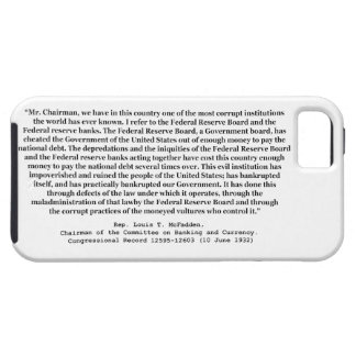 Corrupt Federal Reserve Quote by Louis T McFadden iPhone 5 Cover