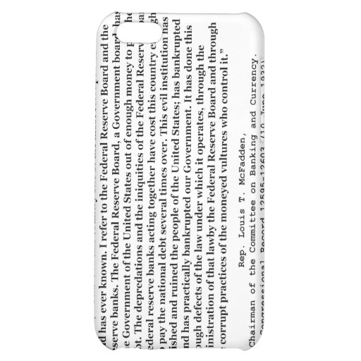 Corrupt Federal Reserve Quote by Louis T McFadden iPhone 5C Case