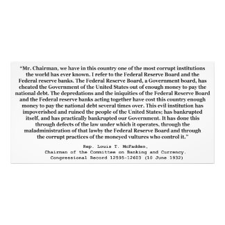 Corrupt Federal Reserve Quote by Louis T McFadden Photograph