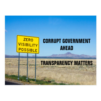 Corruption Transparency in Government Resist Postcard