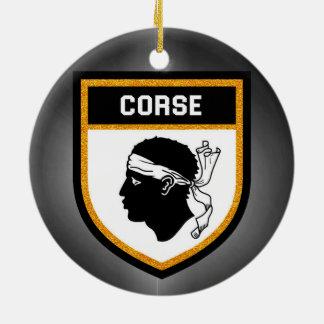 Corse  Flag Ceramic Ornament