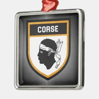 Corse  Flag Metal Ornament