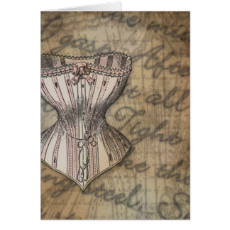 Corset Collage Card