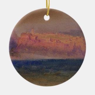 Corsica, (Monaco?) c.1830-35 (w/c on brown paper) Round Ceramic Decoration