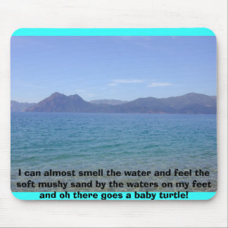 corsica_water, I can almost smell the water and... Mouse Pad