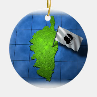 Corsica with its own flag ceramic ornament