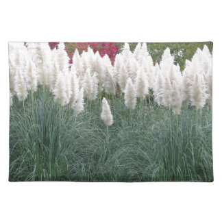 Cortaderia selloana known as pampas grass placemat