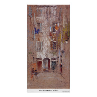Corte del Paradiso by Whistler Poster