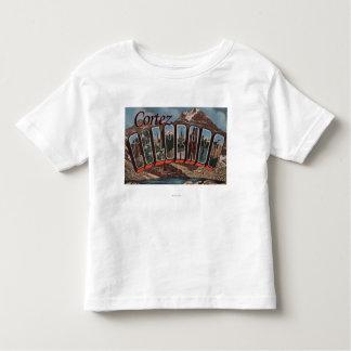 Cortez, Colorado - Large Letter Scenes Toddler T-Shirt