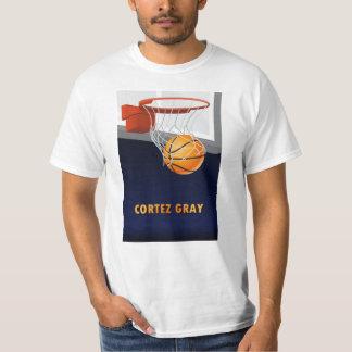 Cortez Gray Basketball T-Shirt