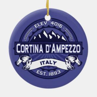 Cortina d'Ampezzo Midnight Ceramic Ornament