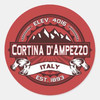 Cortina d'Ampezzo Logo Classic Round Sticker