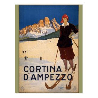 Cortina d'Ampezzo Vintage Travel Poster Art Postcard