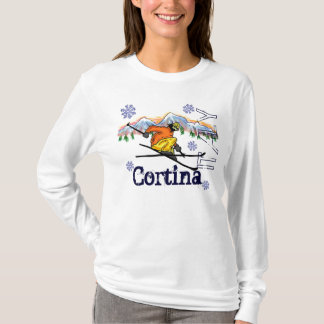 Cortina Italy mountain ski hoodie