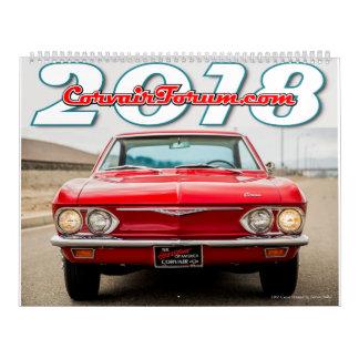 Corvair Forum 2018 Calendar