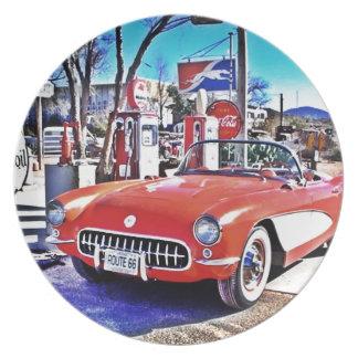 Corvette 66 dinner plates