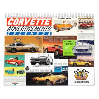 Corvette Advertisement Car Calendar