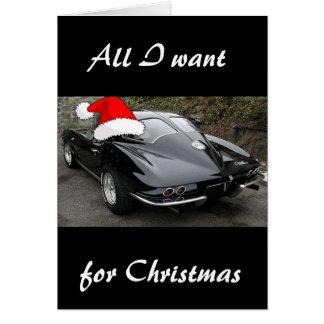 Corvette Black Split Window/Christmas Card