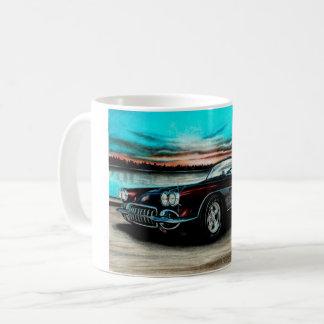 Corvette C1 Mug, Black Cherry Vette. Coffee Mug