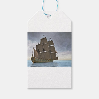 Corvette Sailing Vessel in Calm Waters Gift Tags