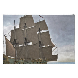 Corvette Sailing Vessel in Calm Waters Placemat