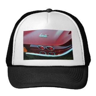 Corvette sting ray tail lights trucker hat