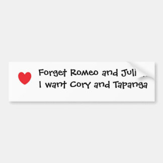Cory and Topanga Bumper Sticker