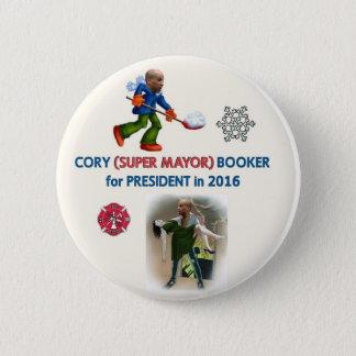 Cory Booker for President 2016 6 Cm Round Badge