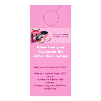 Cosmetic Advertising DOOR HANGER promotion tags Rack Card