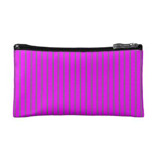 Cosmetic Bag: Broad Fuchsia Stripes Makeup Bag