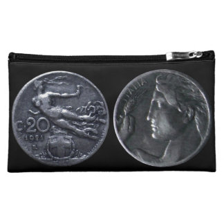 Cosmetic Bag - Coin Decor Italy 20 Centésimi 1921