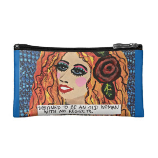 COSMETIC BAG- DESTINED TO BE AN OLD LADY MAKEUP BAG