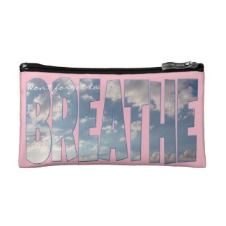 """Cosmetic Bag """"Don't Forget to BREATHE"""" Women"""