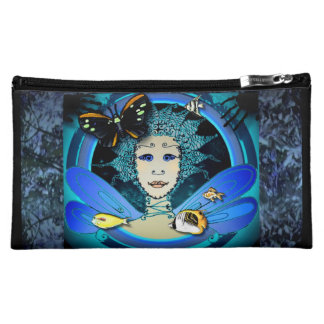 Cosmetic Bag - Green Fairy with Butterfly and Fish