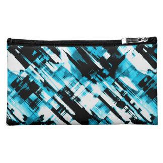 Cosmetic Bag Hot Blue Black digitalart G253