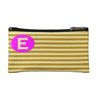Cosmetic Bag.  Initial - E. Makeup Bag