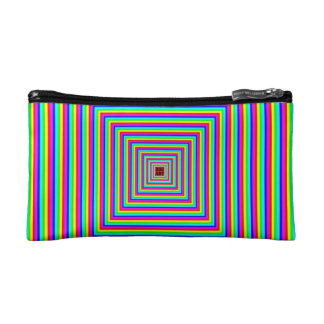 COSMETIC BAG. OPTICAL ILLUSION. MAKEUP BAG