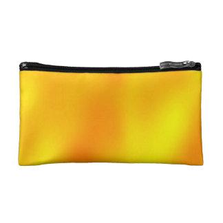 COSMETIC BAG. ORANGY-YELLOW HAZE. MAKEUP BAG