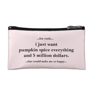 Cosmetic Bag Pumpkin Spice Everything