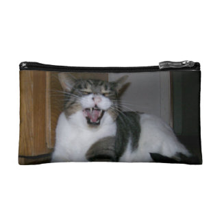 Cosmetic bag with cat picture